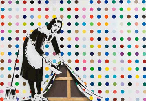 Keep It Spotless (Defaced Hirst) - Banksy