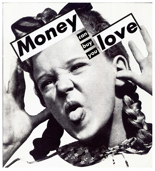 foto de Untitled (Money can buy you love), 1985 - Barbara Kruger - WikiArt.org