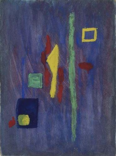 Untitled (Red, Yellow and Green Forms on a Purple Ground) - Barnett Newman