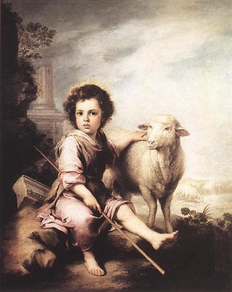 Christ the Good Shepherd, c.1660 - Bartolome Esteban Murillo