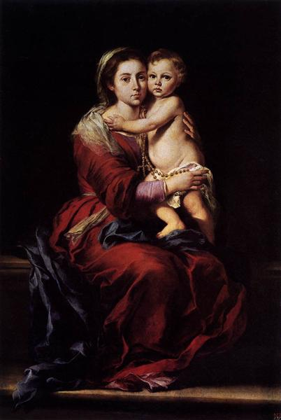 The Virgin of the Rosary, 1650 - Bartolome Esteban Murillo
