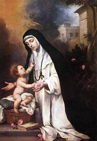 St. Rose of Lima - Bartolome Esteban Murillo