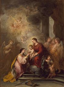 The Mystic Marriage of Saint Catherine - Bartolomé Esteban Murillo