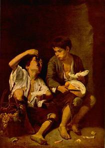Les Mangeurs de melon et de raisin - Bartolomé Esteban Murillo