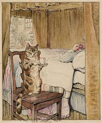 Simpkin at the Tailor's Bedside - Беатрис Поттер