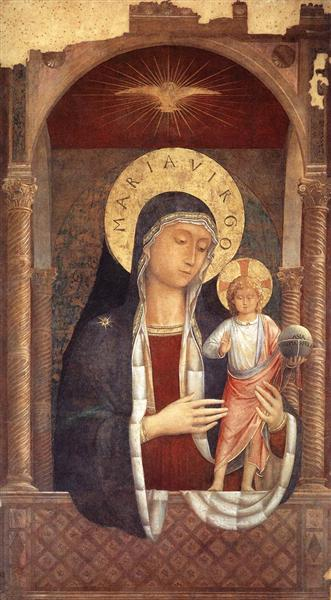 Madonna and Child Giving Blessings, 1449 - Benozzo Gozzoli