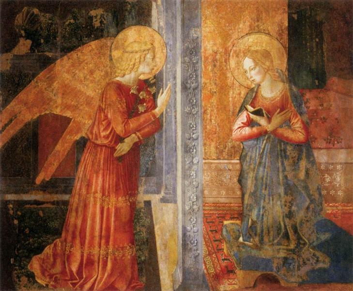 San Domenico Annunciation, c.1449 - Benozzo Gozzoli