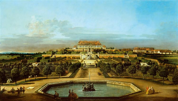 The Schloss Hof, Garden Side, 1758 - Бернардо Беллотто