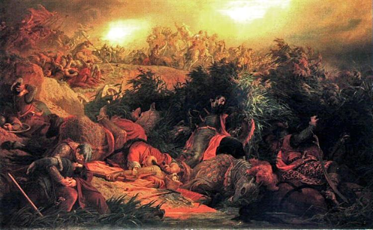 The Battle of Mohács (1526), 1866 - Bertalan Szekely