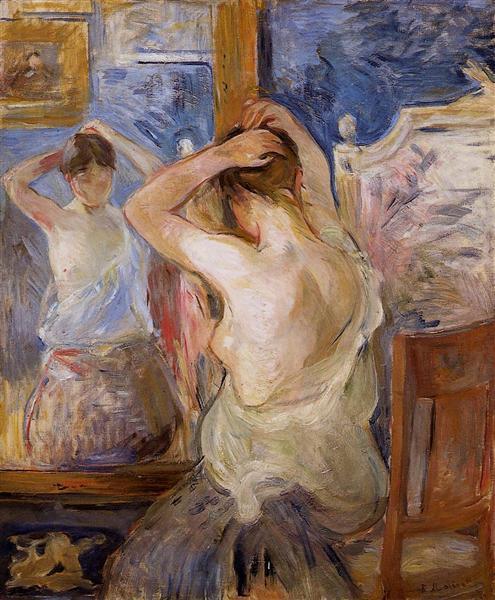 Before the Mirror, 1890 - Berthe Morisot
