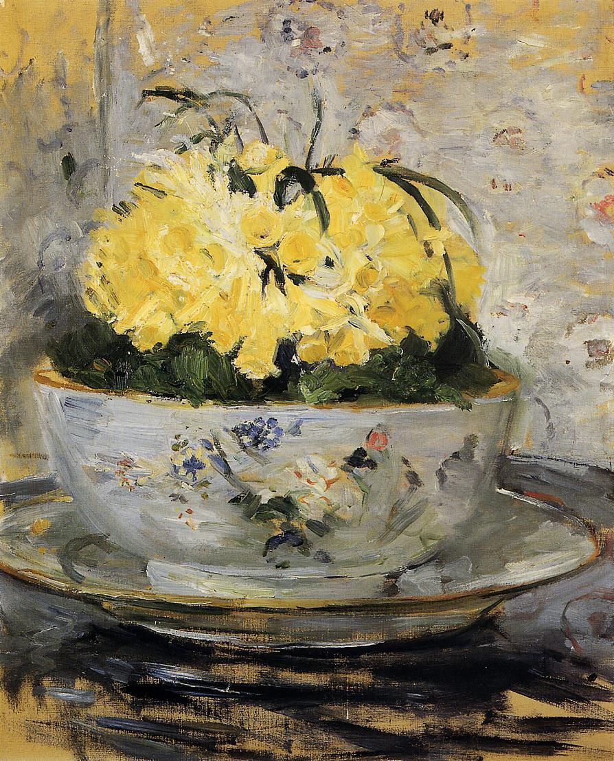 Daffodils, 1885 - Berthe Morisot - WikiArt.org