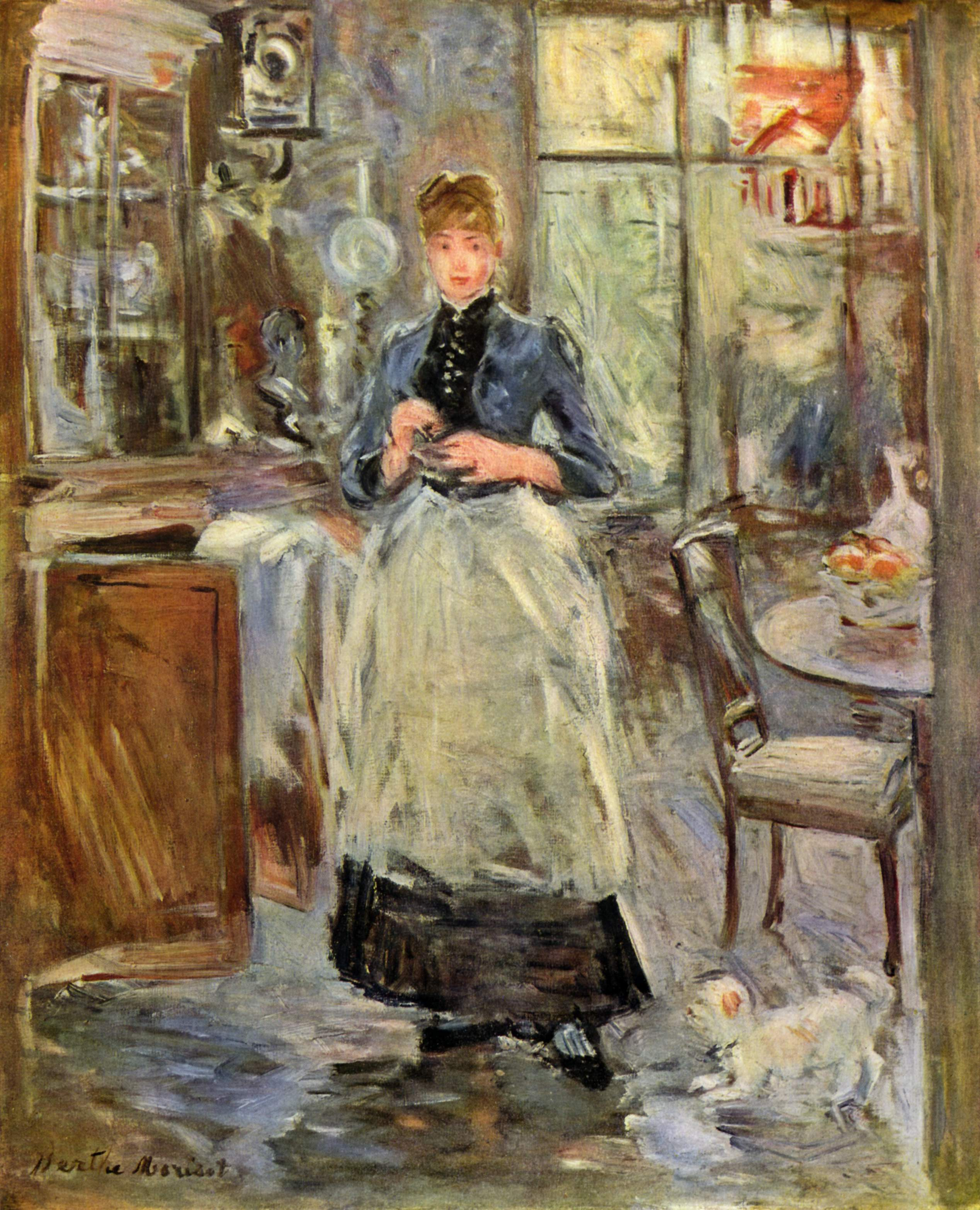 In the dining room berthe morisot for Art et fenetre nice