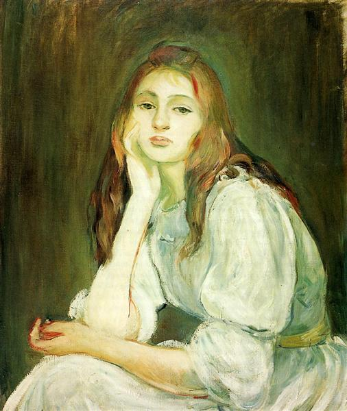 Julie Daydreaming, 1894 - 貝爾特·莫里索