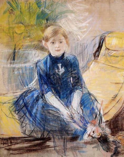 Little Girl with a Blue Jersey, 1886 - Berthe Morisot