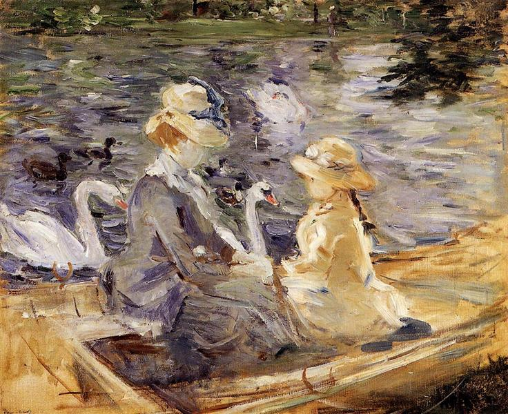 On the Lake in the Bois de Boulogne, 1884 - Берта Моризо