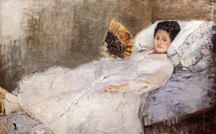Portrait of Madame Hubbard, 1874 - Берта Моризо