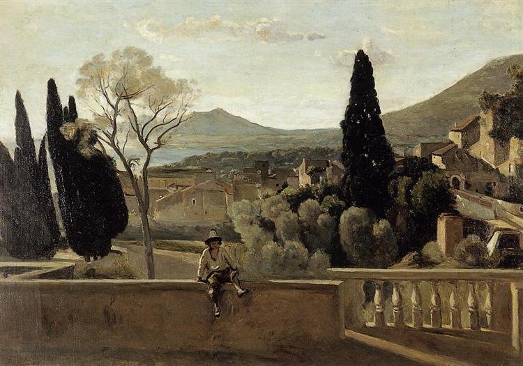View of Tivoli (after Corot), 1863 - Berthe Morisot
