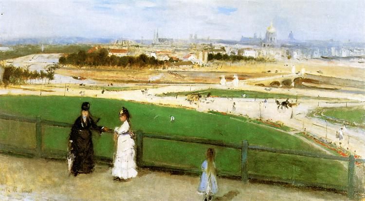 View of Paris from the Trocadero, 1871 - 1872 - Берта Морізо