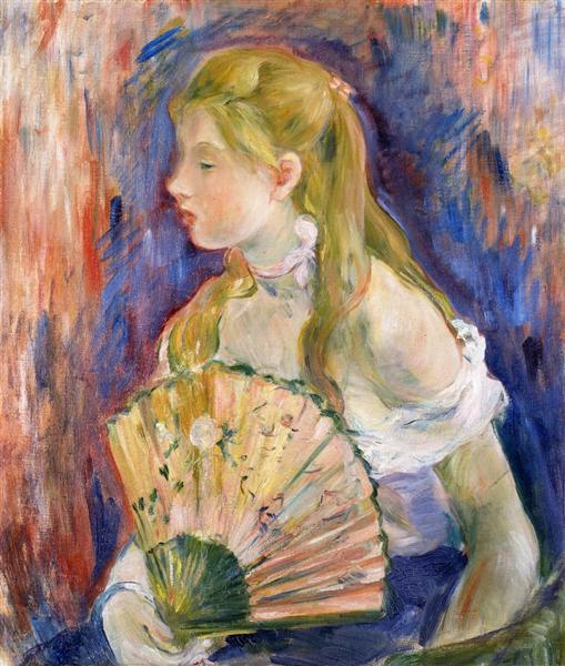 Young Girl with a Fan, 1893 - Berthe Morisot