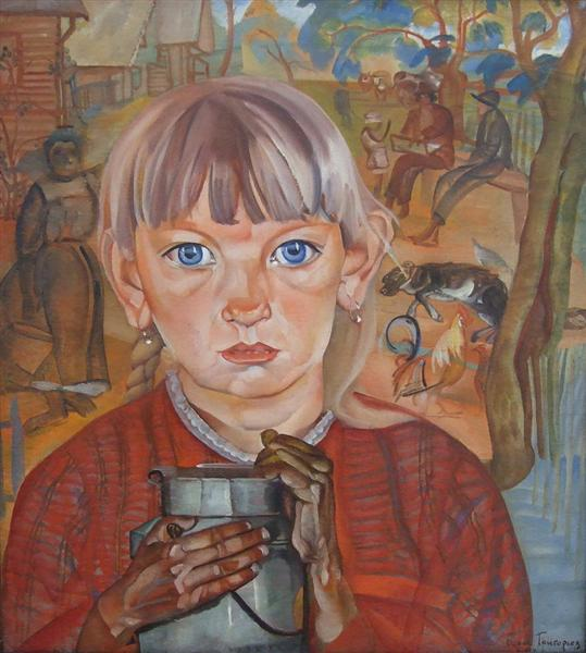 Girl with a Milk Can, 1917 - Boris Grigoriev