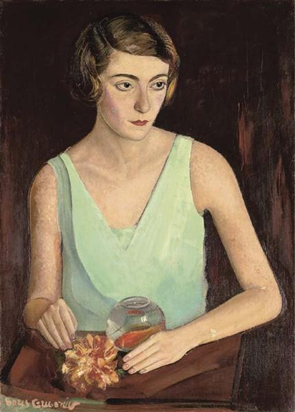 Woman in green dress, 1922 - Boris Grigoriev