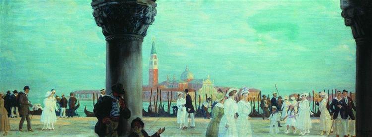 Embankment of Venice, 1918 - Boris Michailowitsch Kustodijew