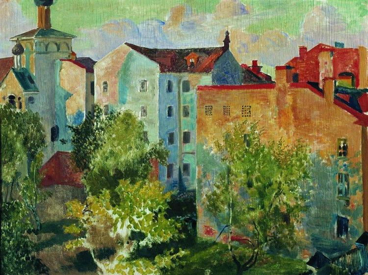 View from the window, 1926 - Borís Kustódiev