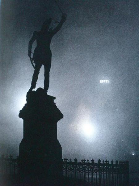 Statue of Marshall Ney in the Fog - Brassai