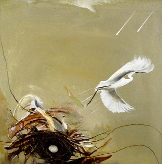 Sin título (pájaro) - Brett Whiteley