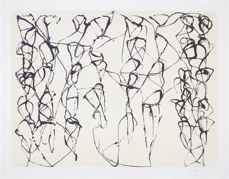Cold Mountain Series, Zen Study 6 - Brice Marden