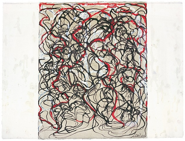 Letter with Red, 2009 - Brice Marden