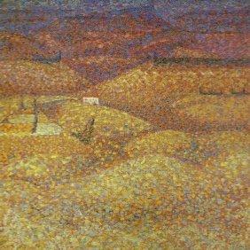 Pink Landscape, 1960 - Bridget Riley
