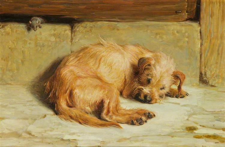 Watching Dog, 1875 - Briton Riviere