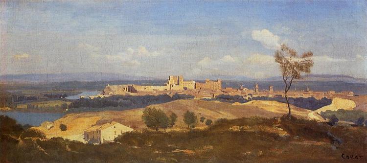 Avignon Seen from Villenueve les Avignon, 1836 - Camille Corot