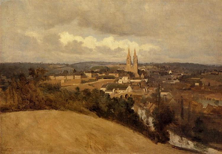 General View of the Town of Saint Lo, c.1833 - Camille Corot