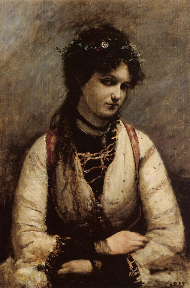 Mademoiselle de foudras 1872 camille corot for Camille corot