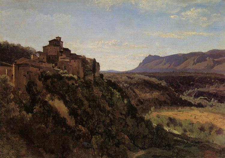 Papigno, Buildings Overlooking the Valley, 1826 - Camille Corot