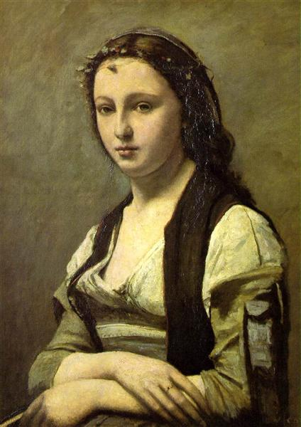 The Woman with a Pearl, 1868 - 1870 - Camille Corot