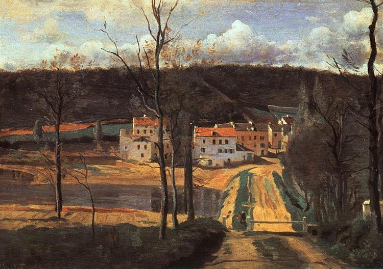 Ville d'Avray the Pond and the Cabassud House, c.1835 - c.1840 - Camille Corot