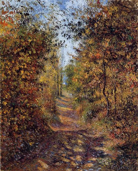 A Path in the Woods, Pontoise, 1879 - Camille Pissarro