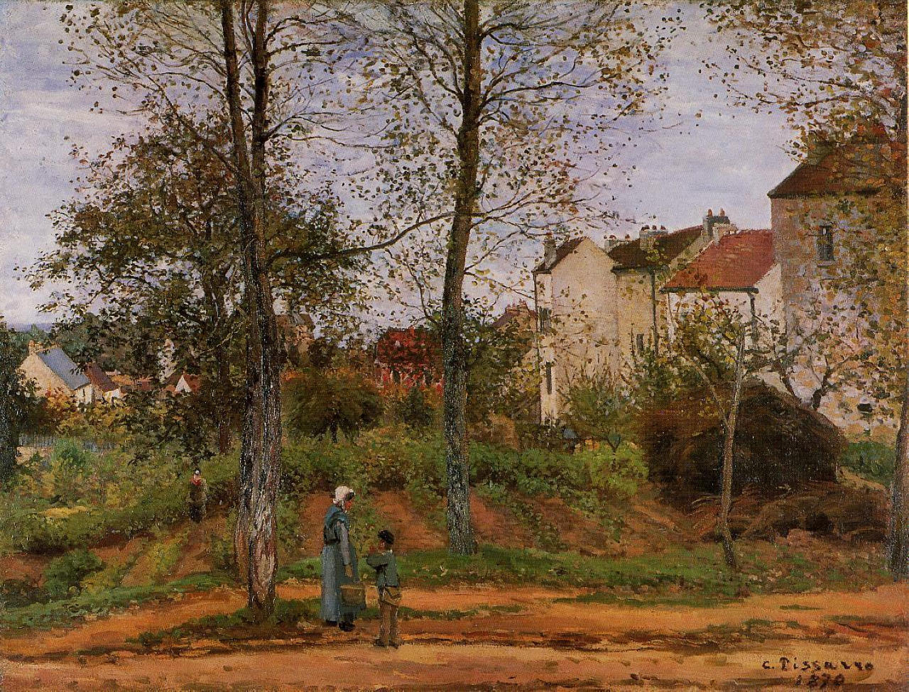 Landscape near louveciennes 2 camille pissarro wikiart for Nearby landscapers