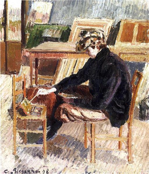 Paul, Study, 1898 - Camille Pissarro