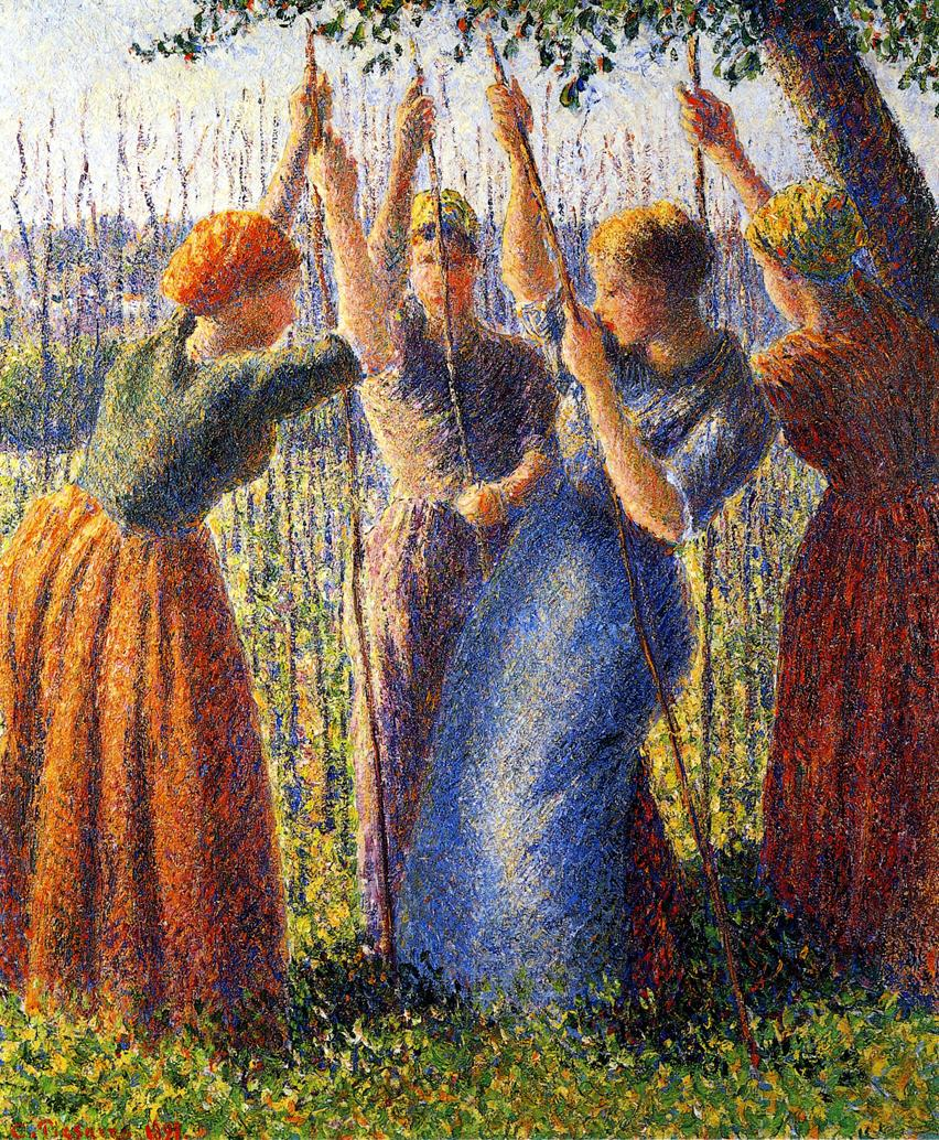 Neo Impressionism Artists: Peasant Women Planting Stakes, 1891