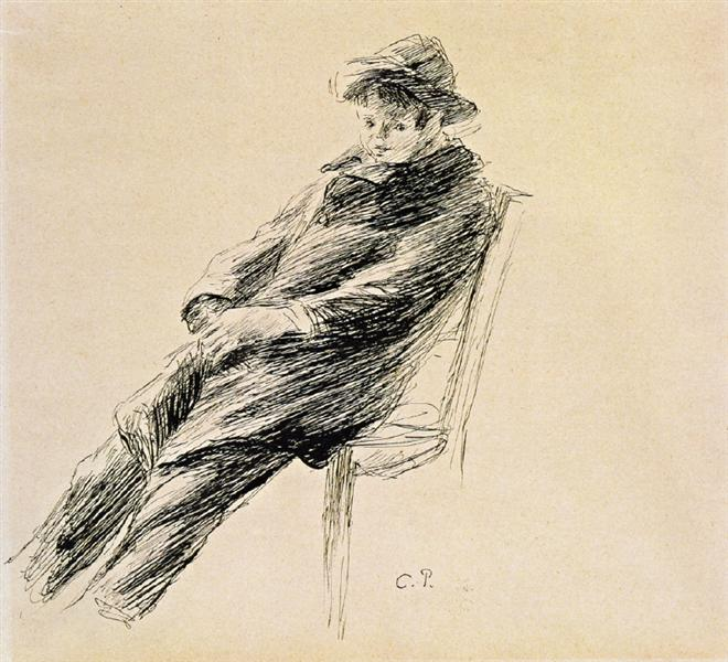 Portrait of Ludovic Rodo Pissarro, c.1891 - c.1892 - Camille Pissarro
