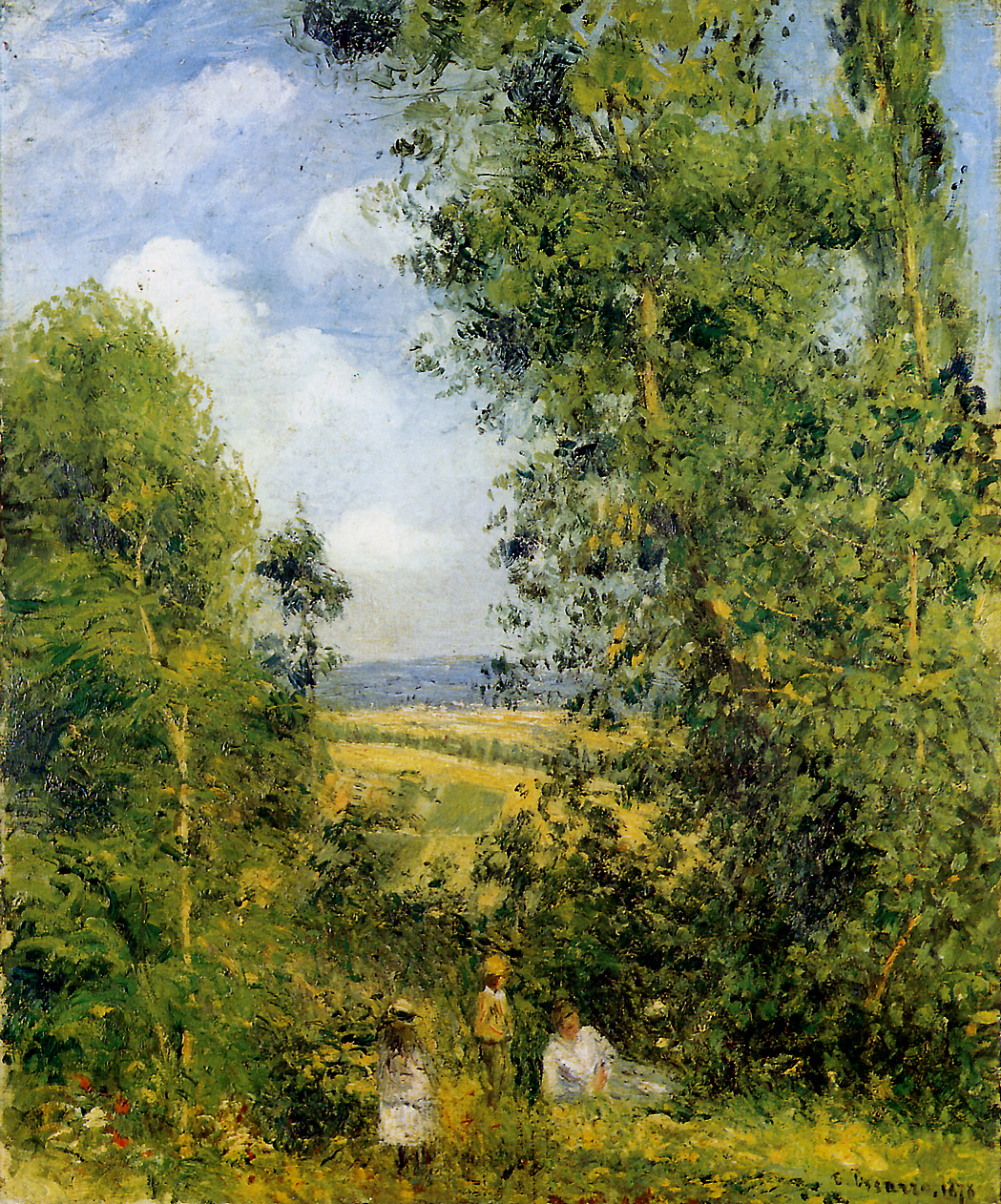 Camille Pissarro: Resting In The Woods Pontoise