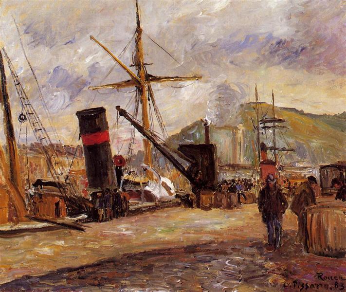Steamboats, 1883 - Камиль Писсарро