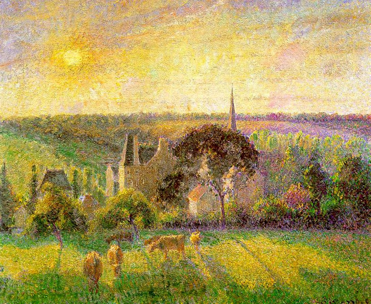 The church and farm of eragny 1895 camille pissarro for Camille pissarro oeuvre