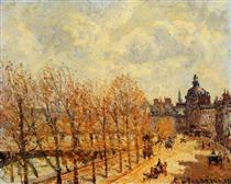 The Malaquais Quay in the Morning, Sunny Weather - Camille Pissarro