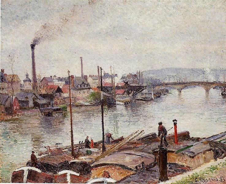 The Port of Rouen 2, 1883 - Camille Pissarro