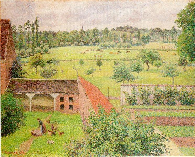 View Through a Window, Eragny, 1888 - Camille Pissarro